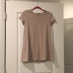 Beige/nude Tee Shirt Dress